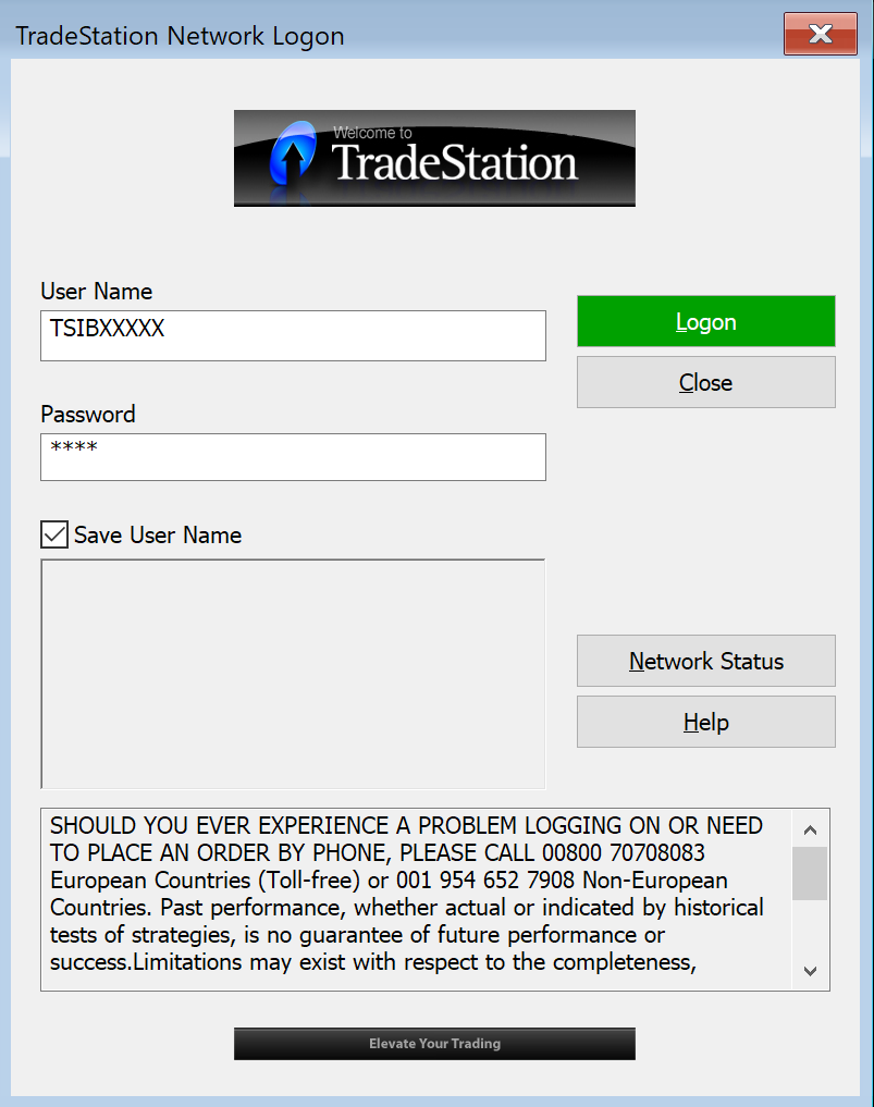 Simulated Trading - TradeStation Global8